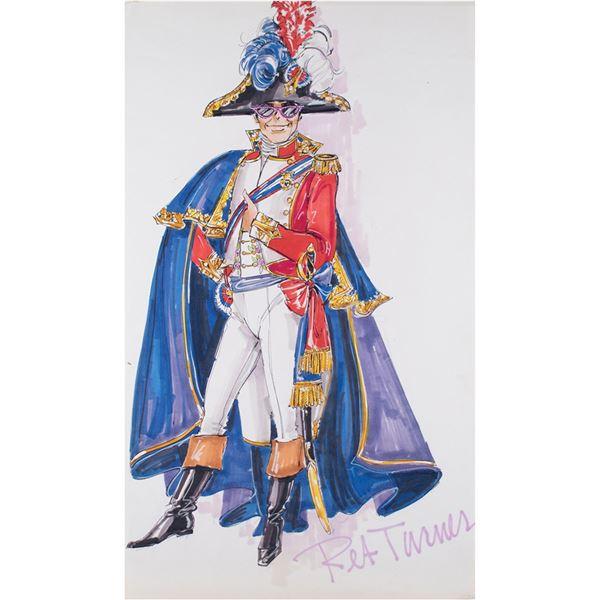 Elton John Original Costume Sketch