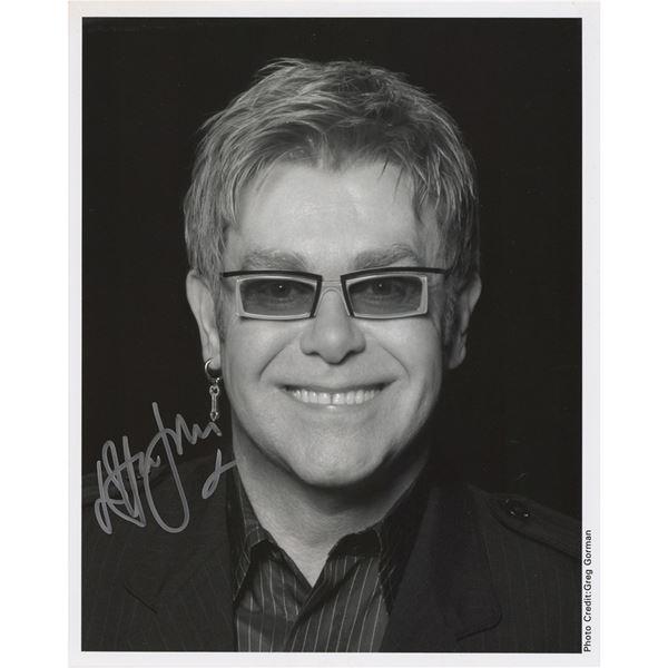 Elton John Signed Photograph