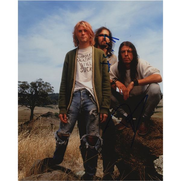 Nirvana: Grohl and Novoselic Signed Photograph