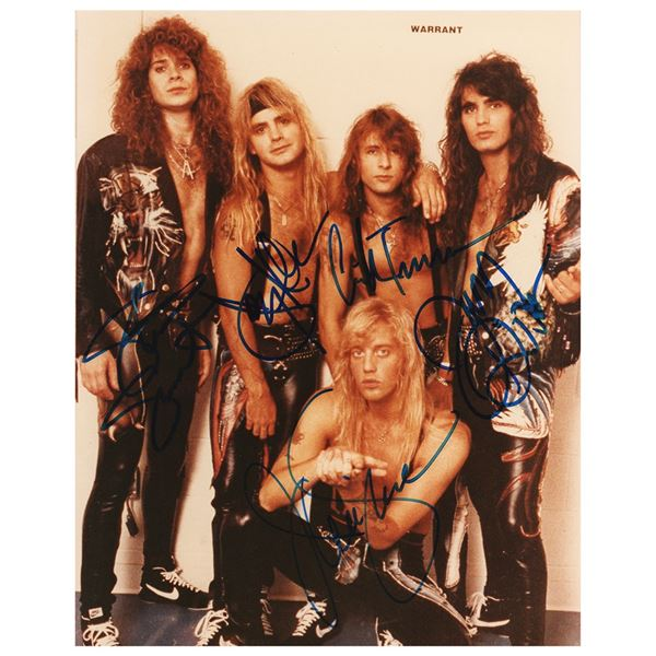 Warrant Signed Photograph