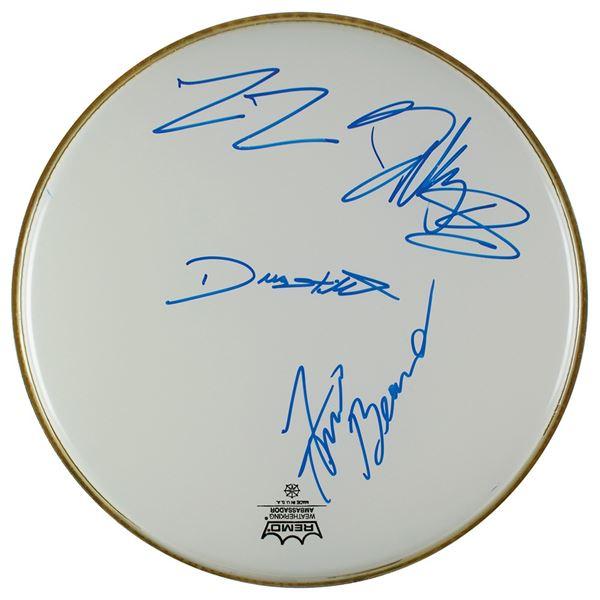 ZZ Top Signed Drum Head