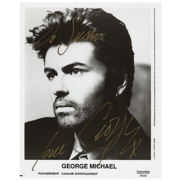 George Michael Signed Photograph
