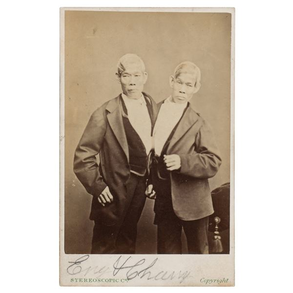 Chang and Eng Bunker Signed Photograph