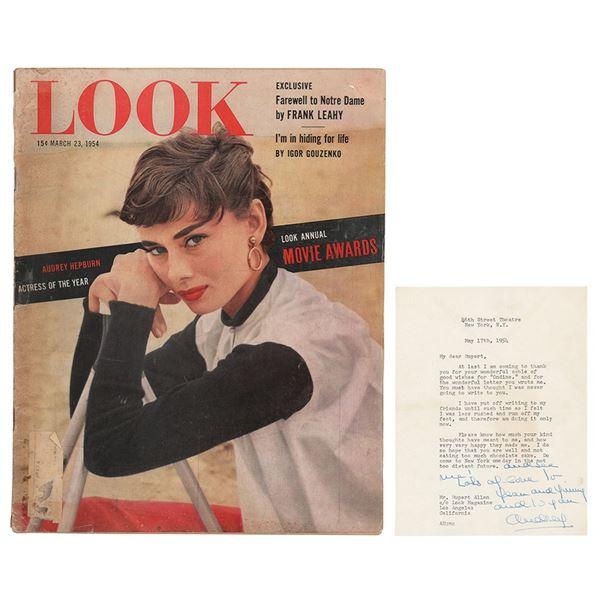 Audrey Hepburn Typed Letter Signed