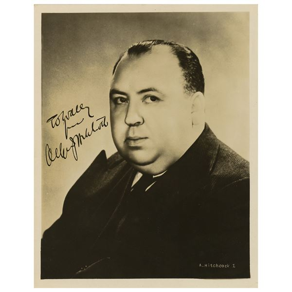 Alfred Hitchcock Signed Photograph