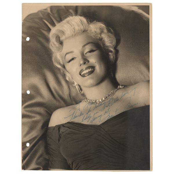 Marilyn Monroe Signed Oversized Photograph
