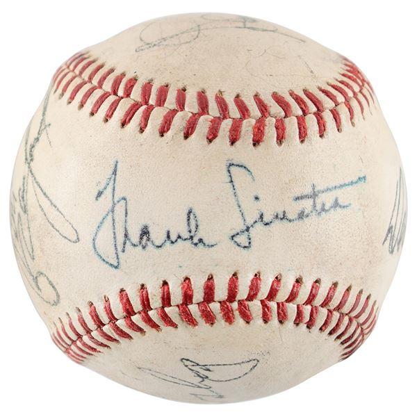Rat Pack Signed Baseball