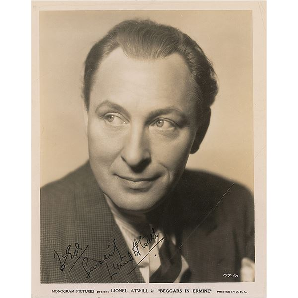 Lionel Atwill Signed Photograph