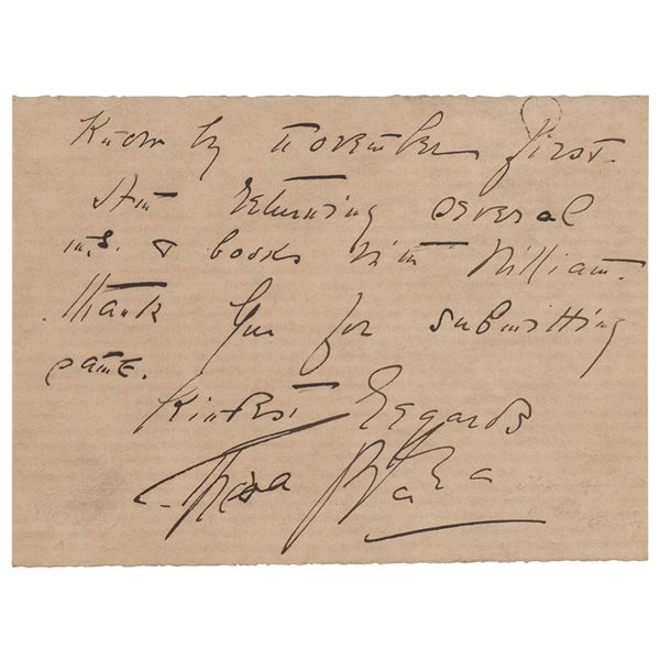 Theda Bara Autograph Letter Signed