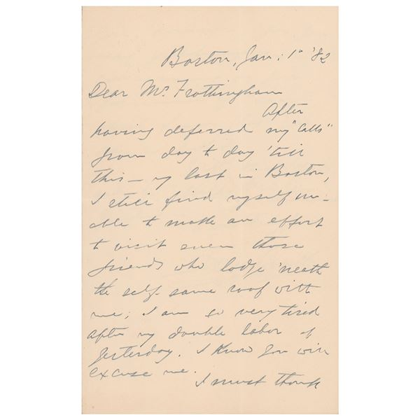 Edwin Booth Autograph Letter Signed