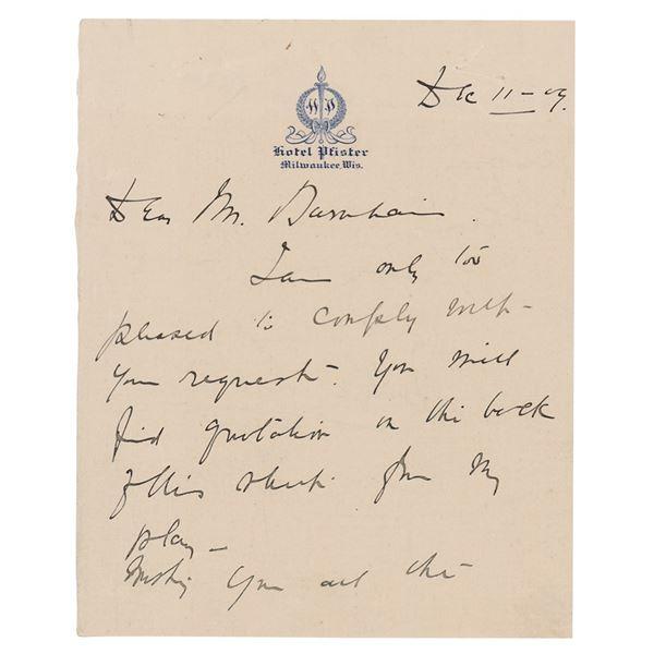 Billie Burke Autograph Letter Signed