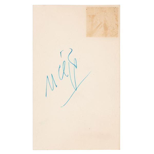 Montgomery Clift Signature