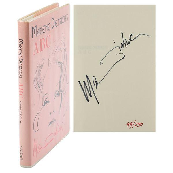 Marlene Dietrich Signed Book