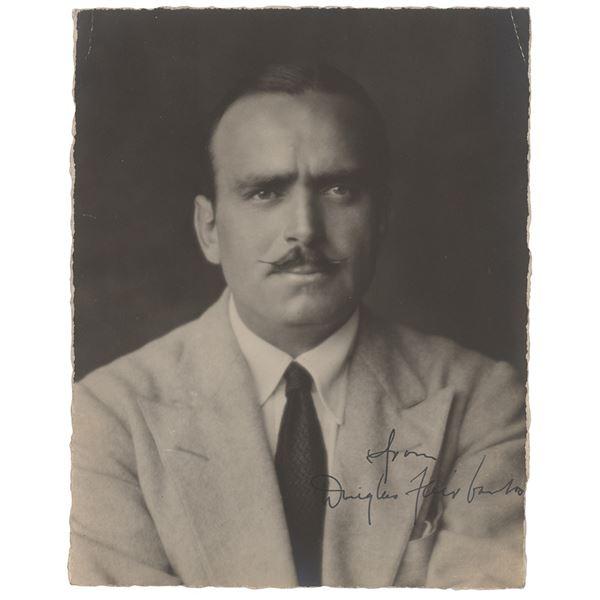 Douglas Fairbanks, Sr. Signed Photograph