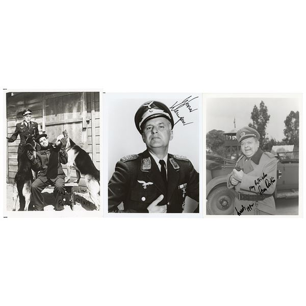 Hogan's Heroes: Klemperer, Clary, and Askin Signed Photographs
