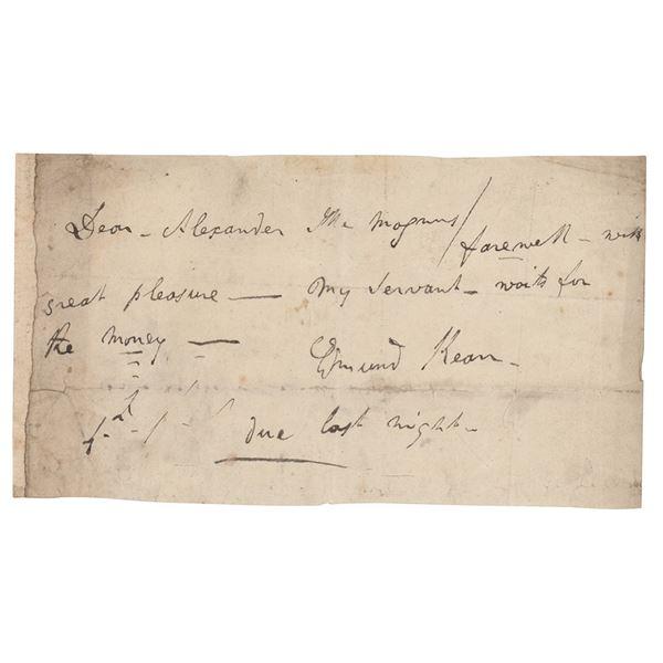 Edmund Kean Autograph Letter Signed