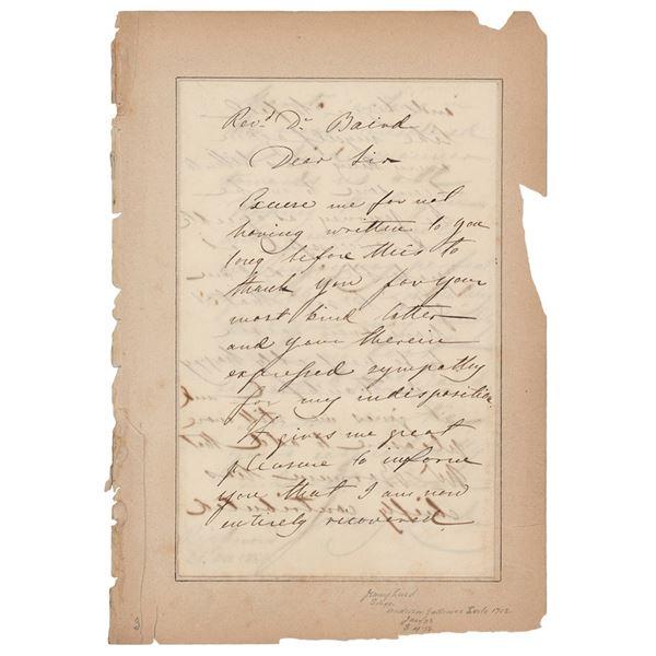 Jenny Lind (2) Autograph Letters Signed