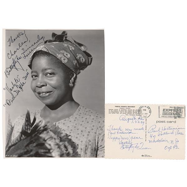 Butterfly McQueen Signed Photograph and Postcard