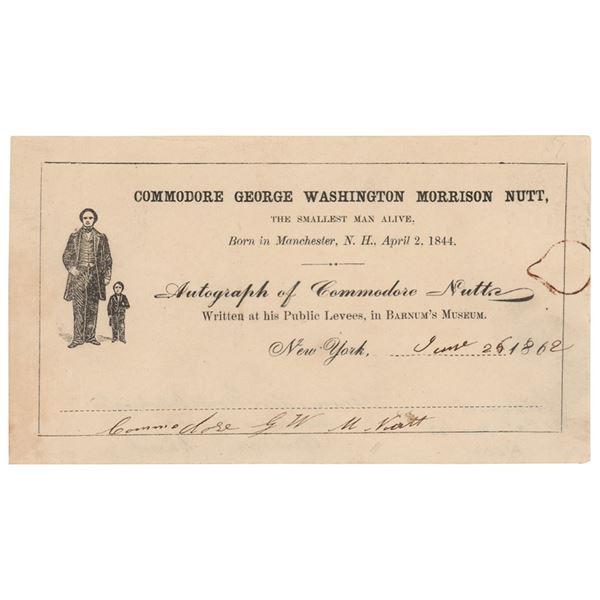 Commodore Nutt Signature
