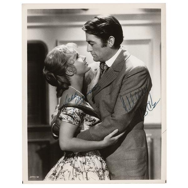 Gregory Peck and Debbie Reynolds Signed Photograph