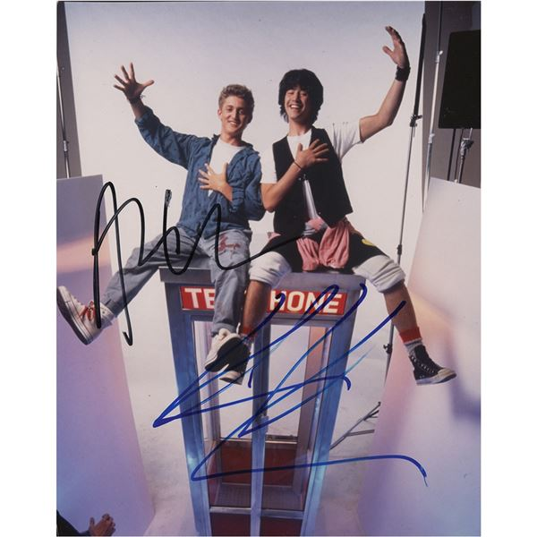 Keanu Reeves and Alex Winter Signed Photograph