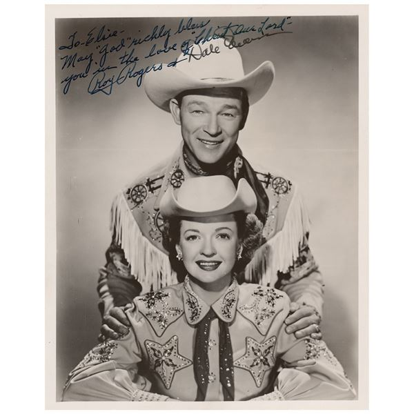 Roy Rogers and Dale Evans Signed Photograph