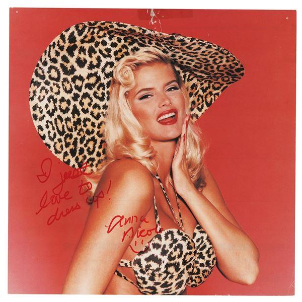Anna Nicole Smith Signed Calendar Page