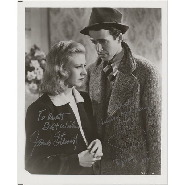 James Stewart and Ginger Rogers Signed Photograph