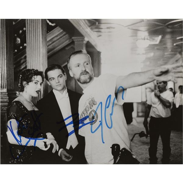 Titanic: DiCaprio, Winslet, and Cameron Signed Photograph