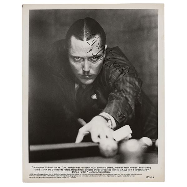 Christopher Walken Signed Photograph