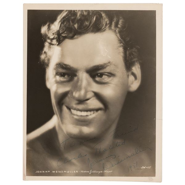 Johnny Weissmuller Signed Photograph