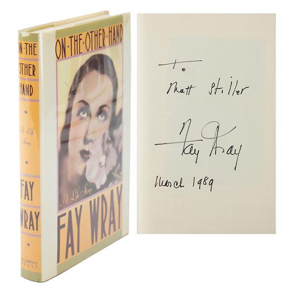 Fay Wray Signed Book