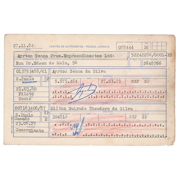 Ayrton Senna Document Signed