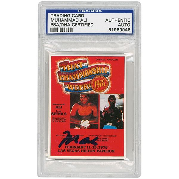 Muhammad Ali Signed Trading Card