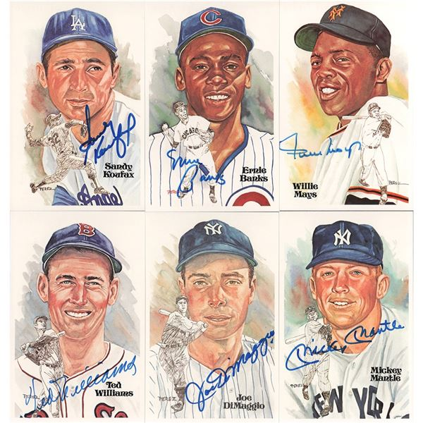 Baseball Hall of Fame Perez-Steele Card Sets with (36) Signed