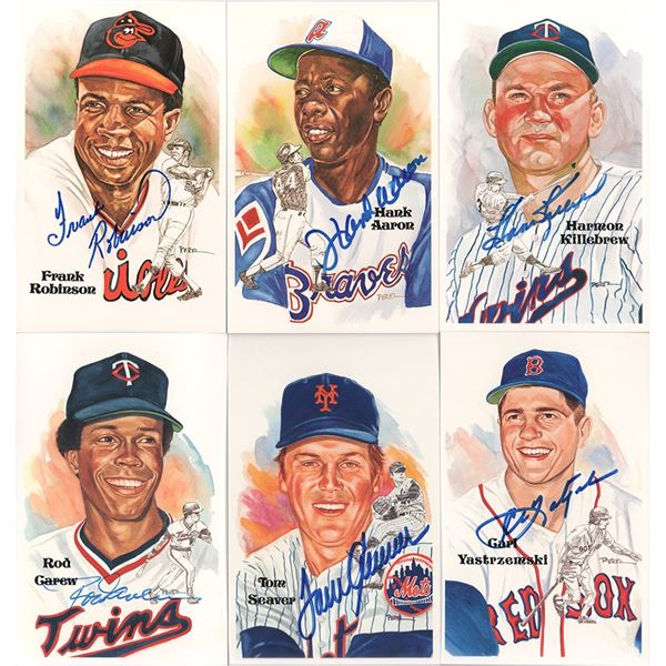 Baseball Hall of Fame Perez-Steele Card Sets with (39) Signed