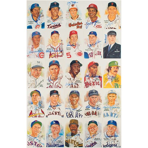 Baseball Hall of Fame (26) Signed Perez-Steele Cards