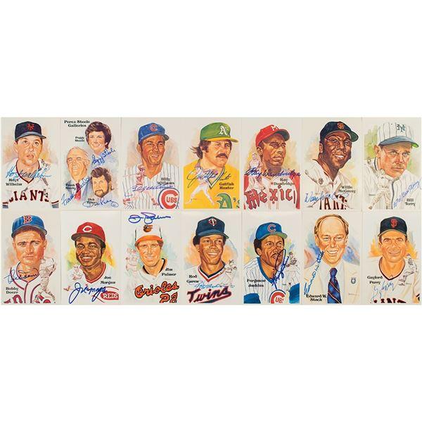 Baseball Hall of Fame (14) Signed Perez-Steele Cards