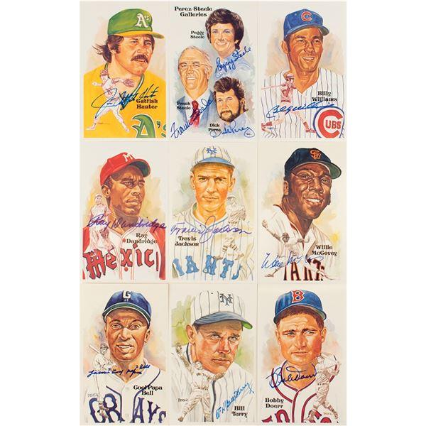 Baseball Hall of Fame (30) Signed Perez-Steele Cards