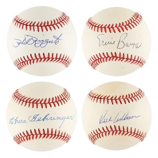 Baseball Hall of Fame Hitters (4) Signed Baseballs
