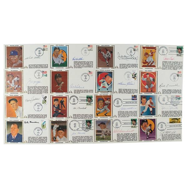 Baseball Hall of Famers (16) Signed Covers