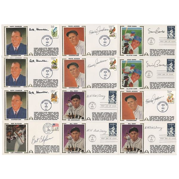 Baseball Hall of Famers (12) Signed Covers