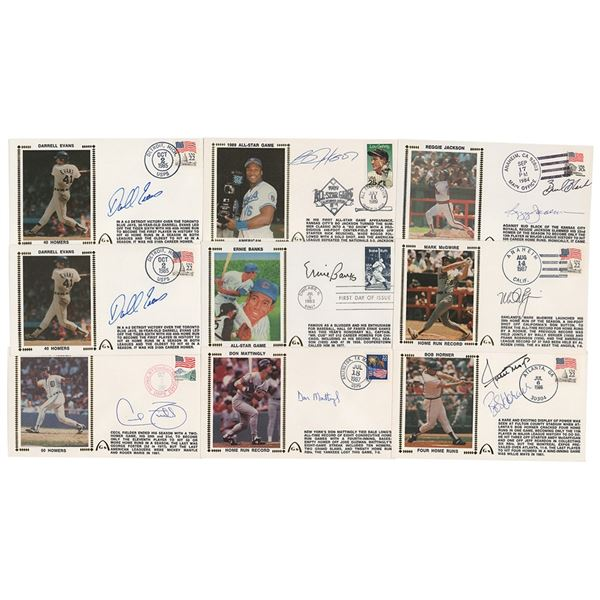 Baseball Sluggers (9) Signed Covers with Willie Mays