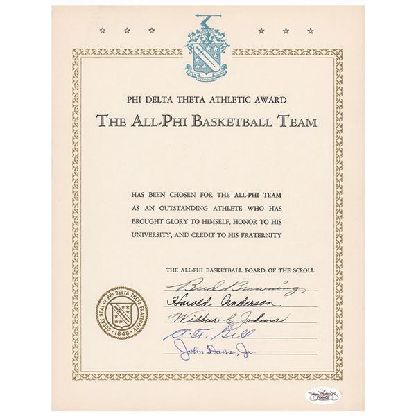 Basketball Coaches (5) Signed Athletic Award