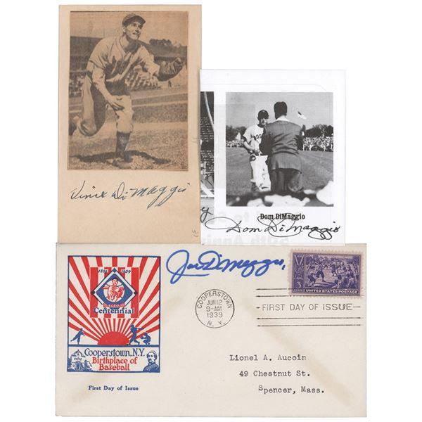 DiMaggio Brothers (3) Signatures
