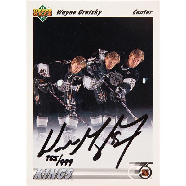 Wayne Gretzky Signed Trading Card
