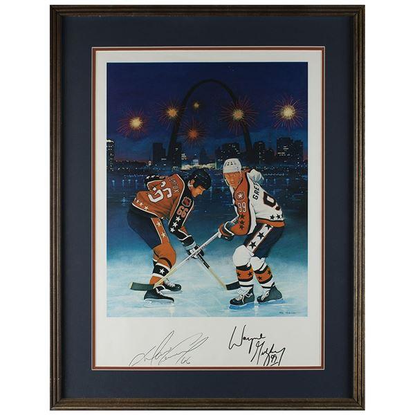 Wayne Gretzky and Mario Lemieux Signed Lithograph