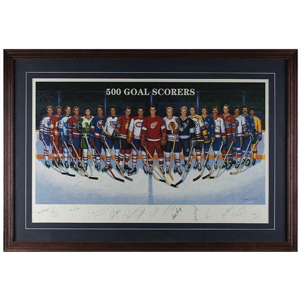 Hockey 500 Goal Scorers (16) Multi-signed Lithograph