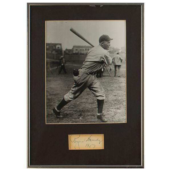 Rogers Hornsby Signature