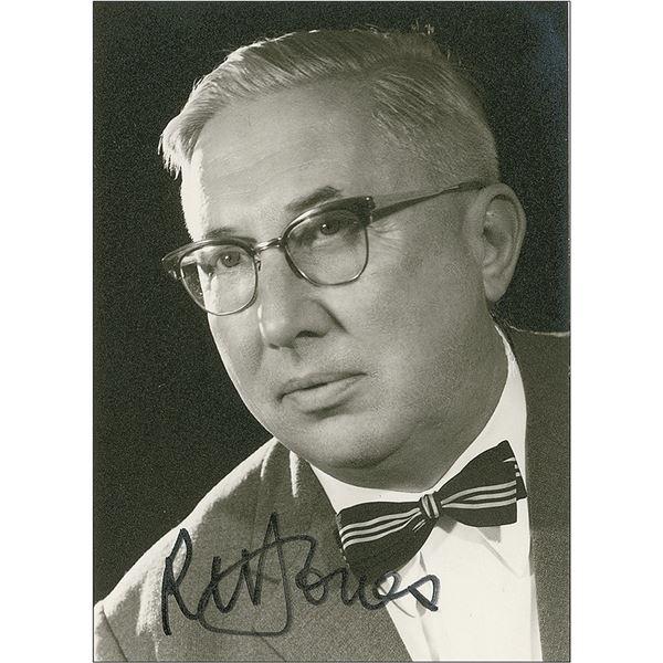 R. William Jones Signed Photograph